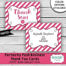 Business Thank You Note Cards Perfectly Posh Inspired Business Thank You Note Card Set Pink