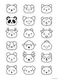 Halloween coloring pages thanksgiving coloring pages color by number worksheets color by numbber addition worksheets. Animals Kawaii Cute Coloring Pages Printable