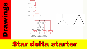 star delta starter control and power circuit diagram youtube Star Delta Wiring Diagram star delta starter control and power circuit diagram star delta wiring diagram pdf
