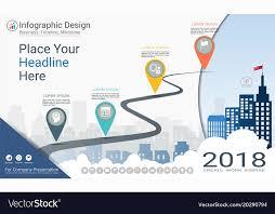 Milestone Timeline Template Milestone Timeline Infographics Template Vector Image