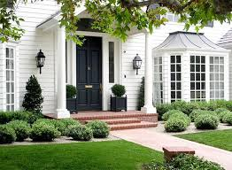 catchy black door house with best white house black ideas on white exterior