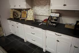 black tile kitchen countertops. Black Italian Limestone Countertops With White Cabinet And Tile Backsplash Flooring For Kitchen Decorating Ideas E