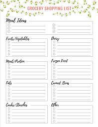 Free Grocery Shopping List Printables - Lauren Gleisberg