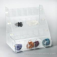 acrylic countertop beads gems display compartment display case