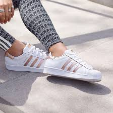 adidas shoes for girls superstar pink. shoes adidas superstar rose gold pink white casual jeans leggings women pretty girl femme style outfit for girls r