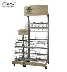Metal Display Racks And Stands Retail Journal Literature Newspaper Display Rack Floor Standing 55
