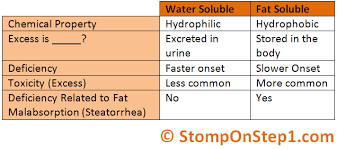 Water Soluble And Fat Soluble Vitamins Chart Fat Soluble Vitamins And Water Soluble Vitamins Stomp On Step1