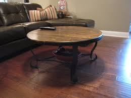 Furniture:Cool Handmade Coffee Table Ideas With Big Wheels On Wooden Floor  Vintage Round Wooden