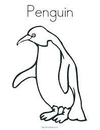 Penguin Coloring Sheets Saysomethingnewsclub