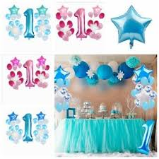 Details About 25pcs Happy First Birthday Balloons Set 1 Year Old Baby Boy Girl Party Decor New