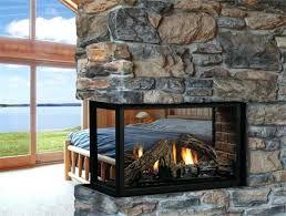 three sided gas fireplace 3 sided gas fireplace dimensions