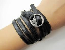 black soft leather women leather bracelet with silvery alloy buckle men leather cuff bracelet uni bracelet 1269a 12 00 via
