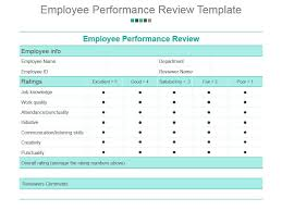 Employee Performance Chart Excel Employee Performance Review Template Powerpoint Presentation