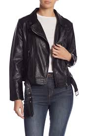 image of elo faux leather moto jacket
