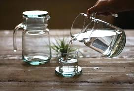 bedside carafe set decanter and glass antique farmhouse in nightstand water australia b