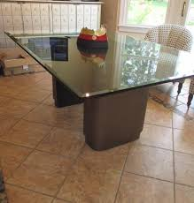 custom design glass top dining table re7y