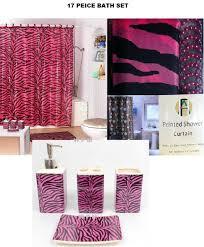 Decorative Bathroom Accessories Sets Amazon 100 Piece Bath Accessory Set Pink Zebra Shower Curtain 78