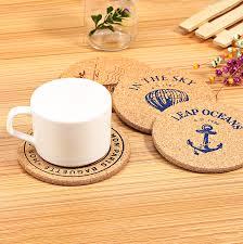 cup coaster aliexpresscom  buy m size pure wood pcs cork drink