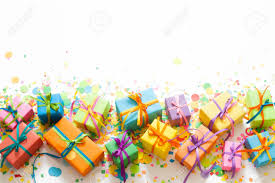 Gifts Background Colored Gift Boxes With Colorful Ribbons White Background Gifts