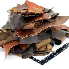 details about springfield leather co 10 pounds assorted oil tan cowhide leather remnants