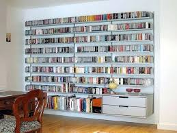 how to build the wall mounted bookcase large white shelving diy