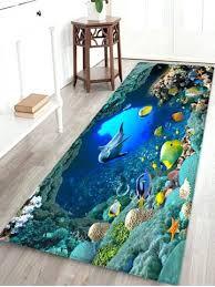 beautiful ocean world print non slip floor rug bathroom rugs heated carpets