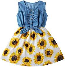 Amazon.com: Cutemile <b>2</b>-<b>8</b> Years Little Girls Sleeveless Denim ...