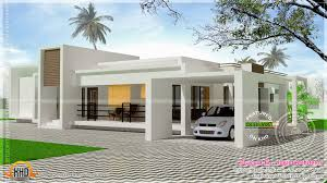 front elevation of single floor house kerala and view best plans