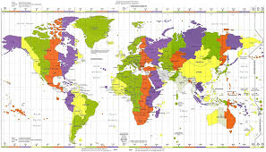 Time Map Map Of World Time Zones