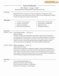 Rehab Nurse Resume