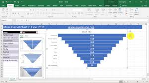 Create Funnel Chart In Excel 2019