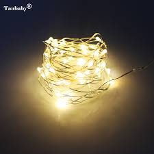 Battery Life Led Christmas Lights Us 2 63 15 Off Tanbaby 3aa Battery 4m 40 Led Strip Copper Wire Christmas Lights Decoration Holiday Lighting With Battery Box Led String Light In Led