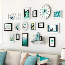 2021 modern solid wood photo frame wall