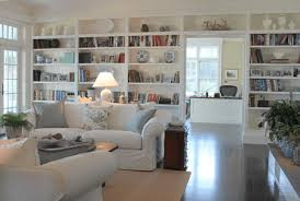 beach house living room with built in shelves molly frey design