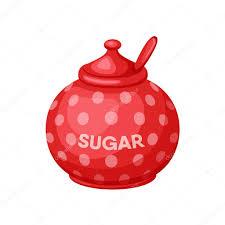 <b>Сахарница с ложкой</b> — Векторное изображение © nordfox ...