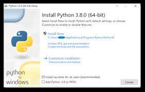 Windows 1 3 Using Python On Windows Python 3 8 0 Documentation