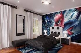 furniture incredible boys black bedroom. Awesome Bedrooms For Teenage Boys Design Decorating With Wooden Charming Bedroom Furniture Spiderman Wall Paper Along Incredible Black R