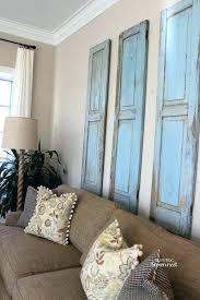 wood shutter wall decor shutter wall art rustic wood shutters primitive wood and iron shutters wall wood shutter wall decor