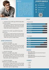 Impressive Resume Best Free Resume Templates Ppt