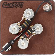emerson wiring harness emerson image wiring diagram emerson custom prewired kit for gibson sg guitars sweetwater on emerson wiring harness