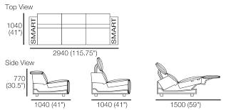 king cloud iii recliner sofa