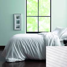 home bedding martex green t 250 stripe duvet cover king 108x94 60 organic cotton 40 recycled polyester white 10 per case per each