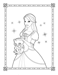 Coloring Page Engaging Barbie Sketch Games Coloring Page Barbie