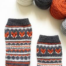 Fox Knitting Chart Ravelry Fox Isle Socks Pattern By Life Is Cozy