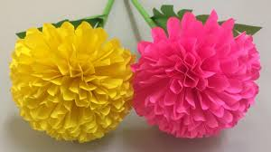 How To Make Flower Paper How To Make Beautiful Flower With Paper Making Paper Flowers Step By Step Diy Paper Flowers