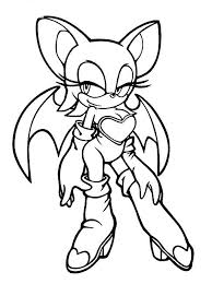 Sonic Coloring Pages Rouge Cartoon Coloring Pages For Girls