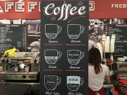 Coffee Beverage Chart Cafe Fresco Beverage Chart Picture Of Cafe Fresco