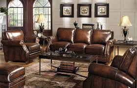 Furniture Elegant Dark Leather Craftmaster Furniture With Dark