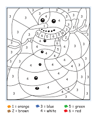 Puppy color by numbers worksheet. Easy Color By Number For Preschool And Kindergarten