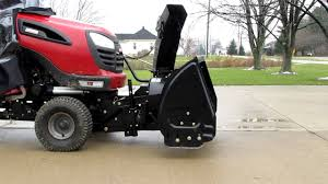 craftsman lawn tractor attachments. 2011 electric powered lift for my craftsman tractor with snowblower or snowthrower - youtube lawn attachments a